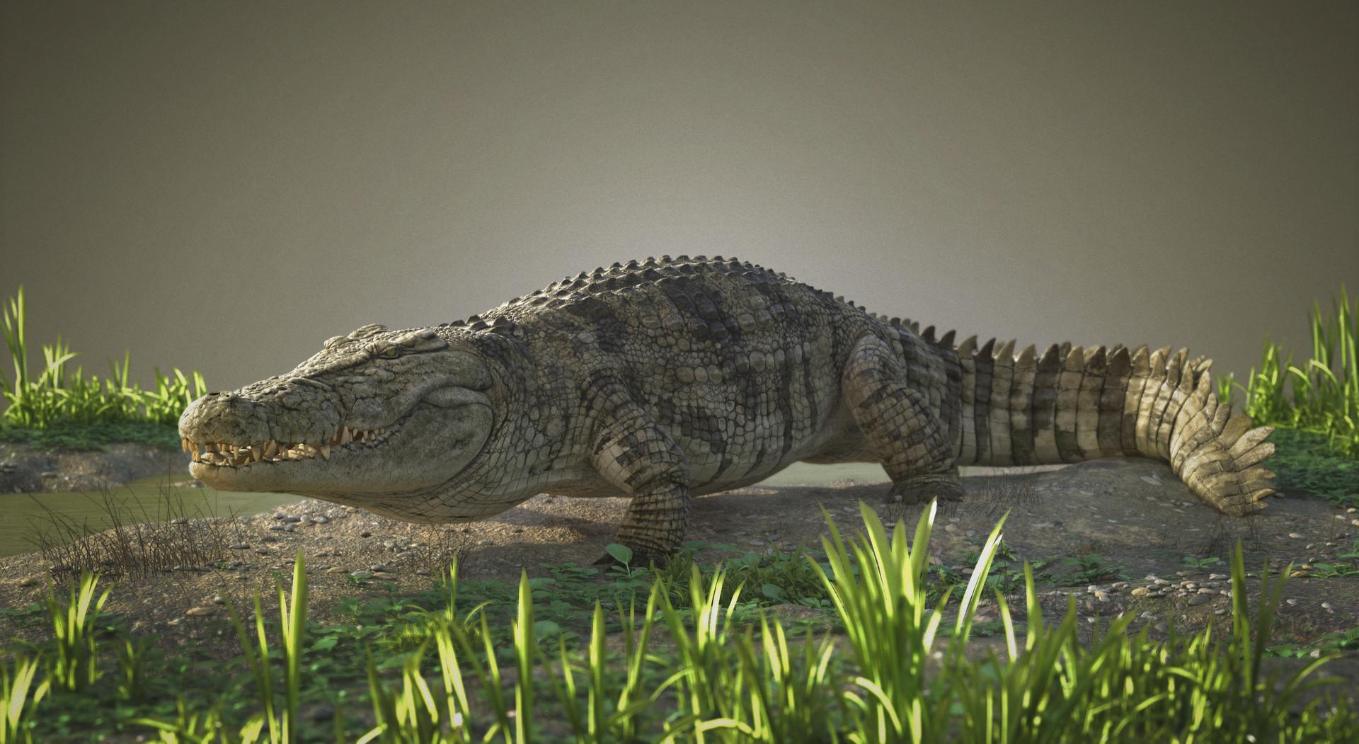 ArtStation - Wild and angry Crocodile, Dmytro Teslenko
