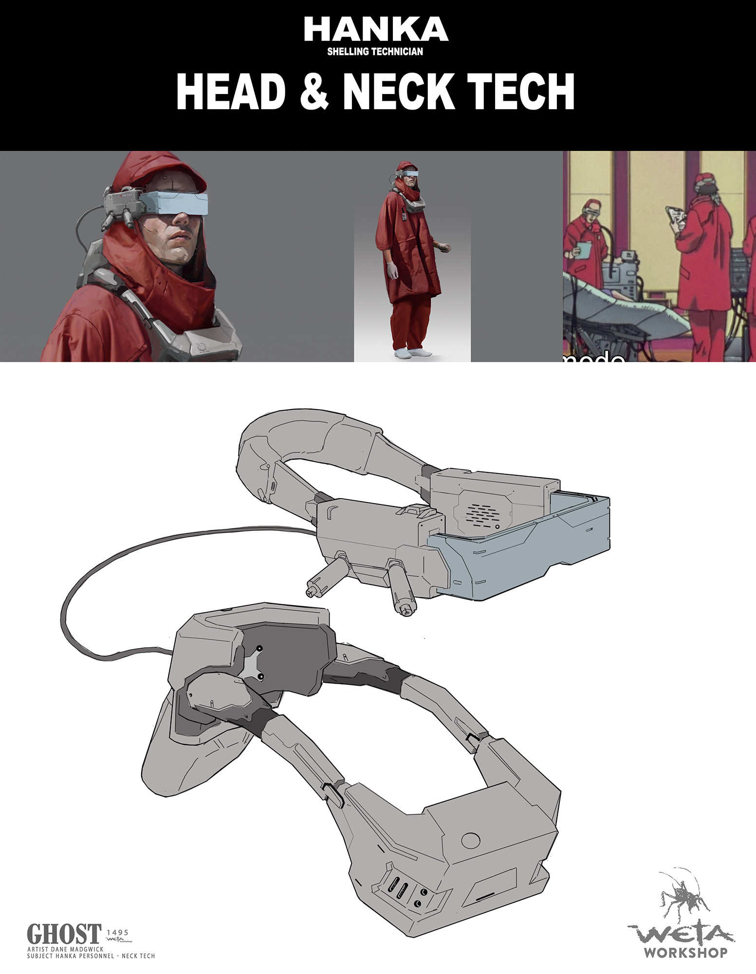 Weta workshop design studio charschem shelling technician tech dm