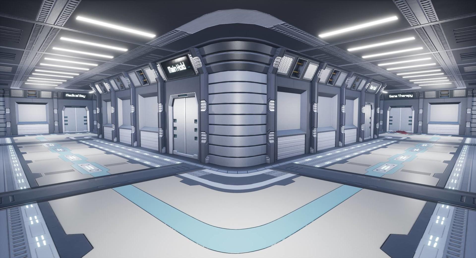 Sci Fi hallways