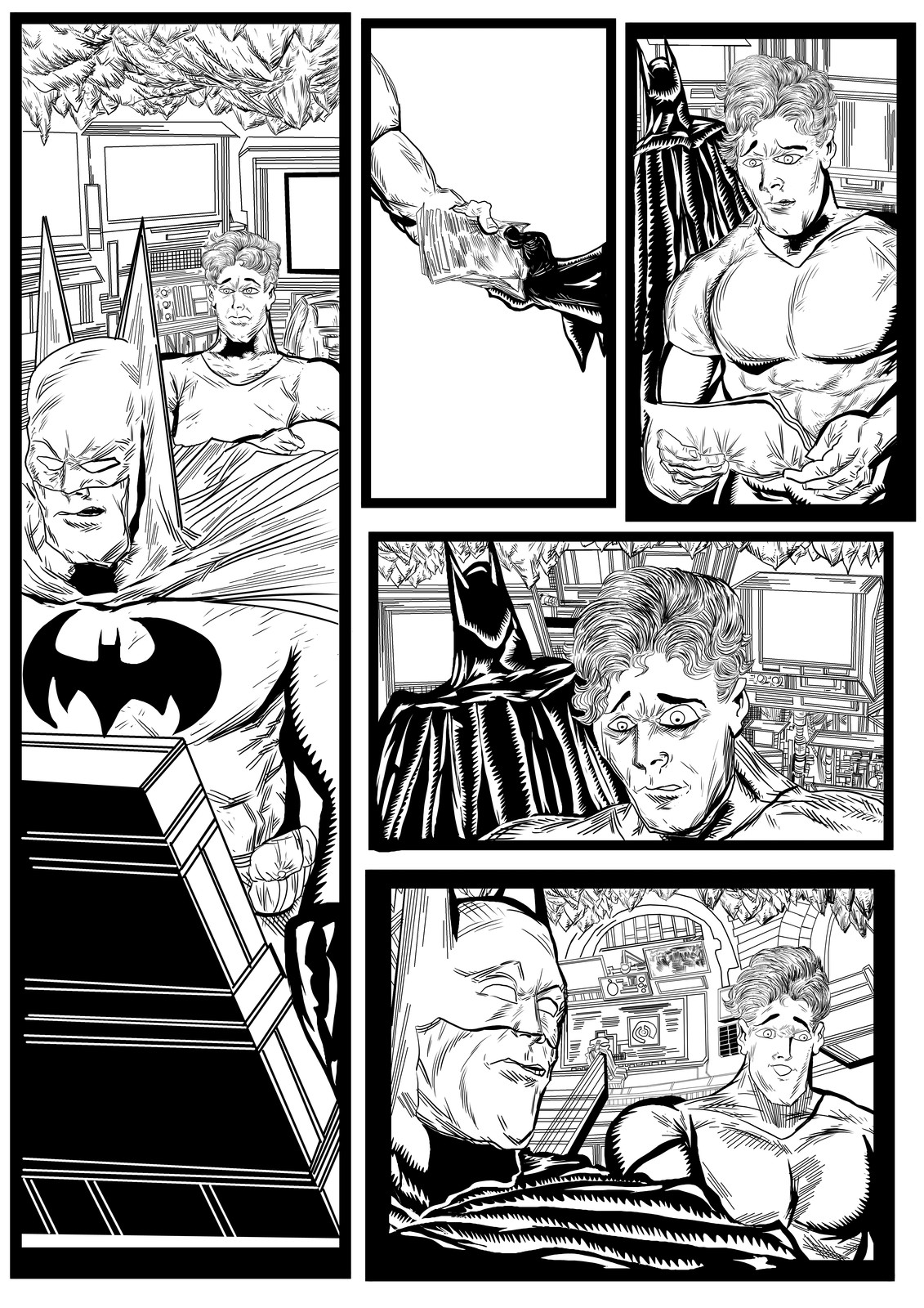 Batman and Robin sequential artwork page 3-2017 by Brian Robinson