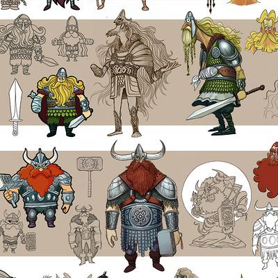 Edin durmisevic nordic gods lineup inet design
