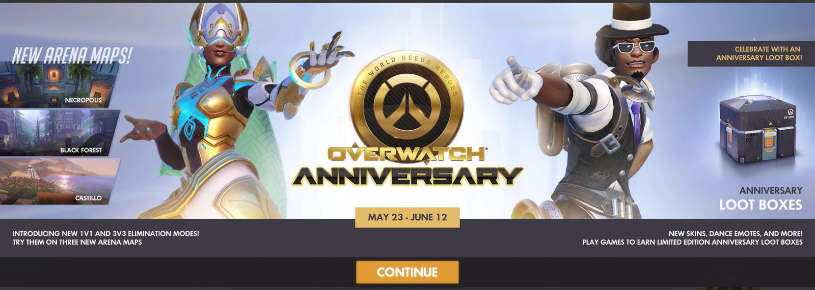 Overwatch 1 Year Anniversary — Oasis Symmetra Event Screen