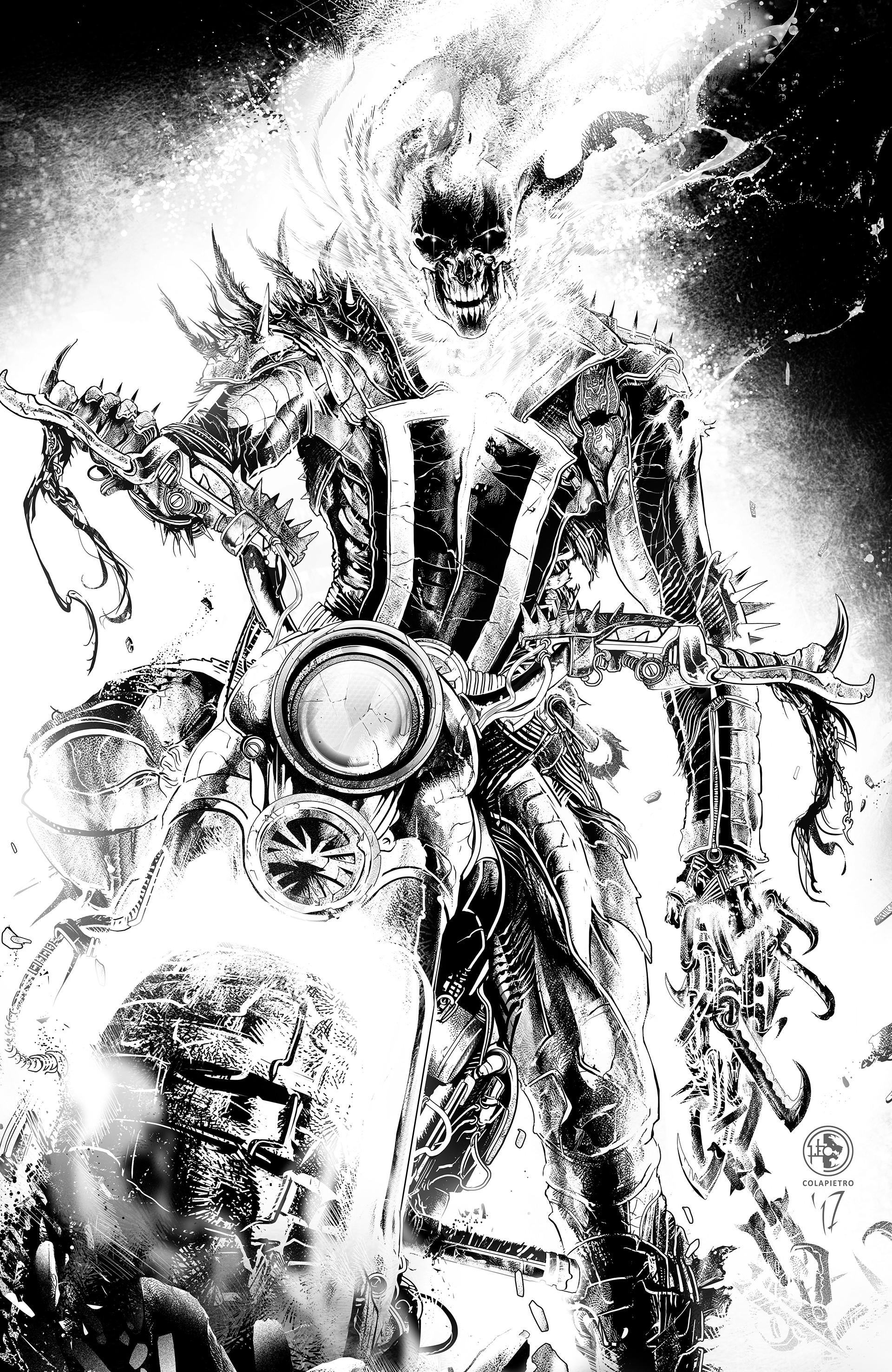 Artstation Ghost Rider John Blaze Leo Colapietro