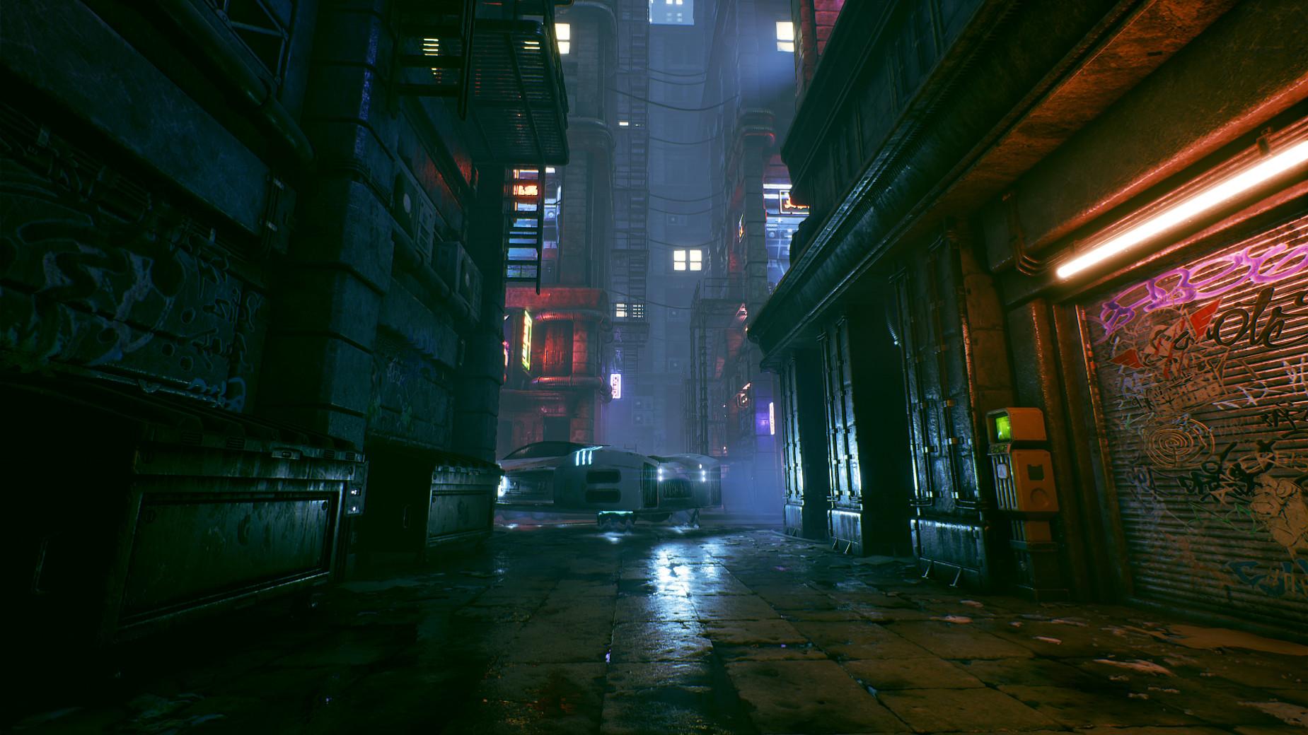 ArtStation - Cyberpunk City Alley - Unreal Engine 4, Michal Baca