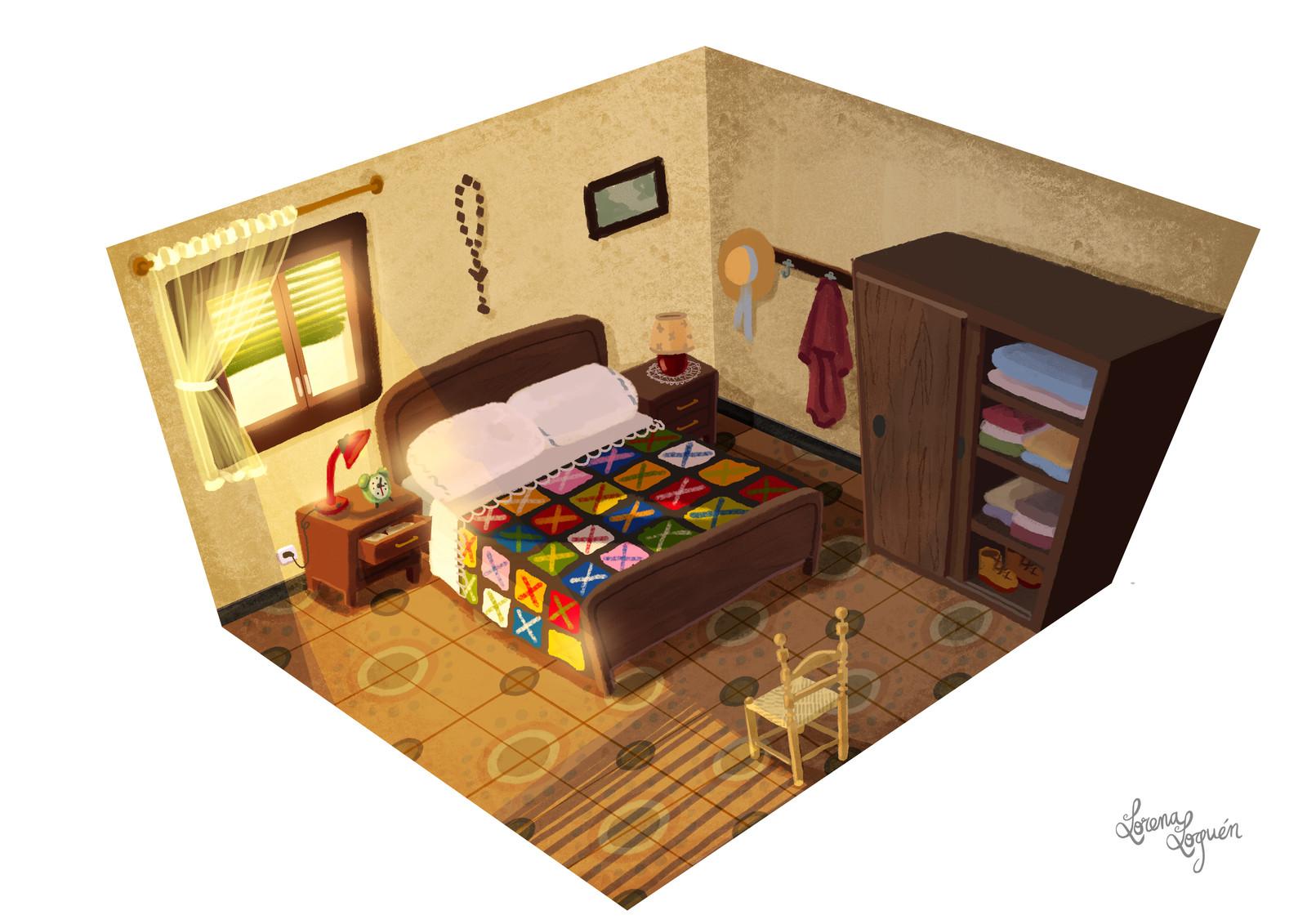 Spanish 70's Bedroom