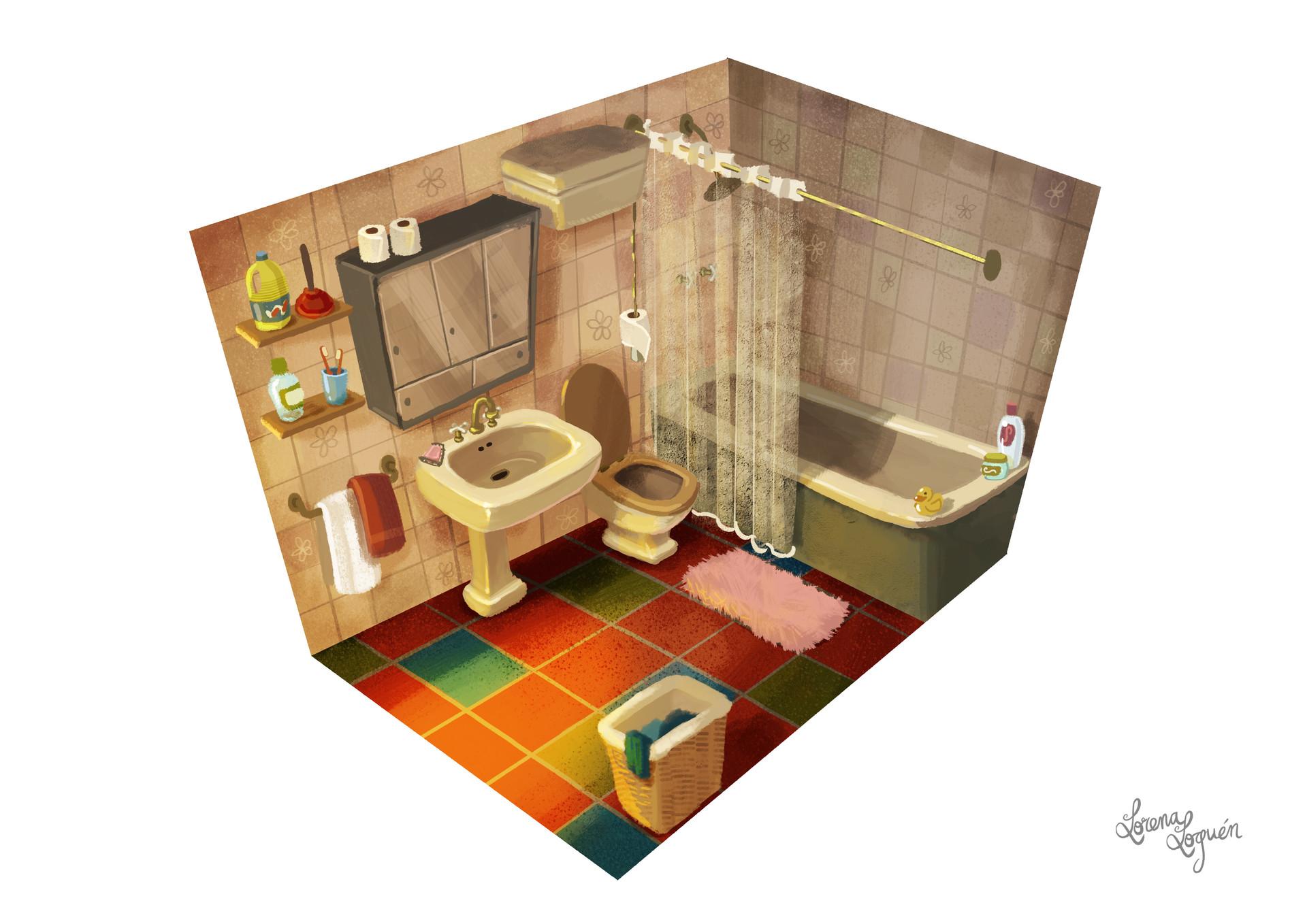 Spanish 70's Bathroom