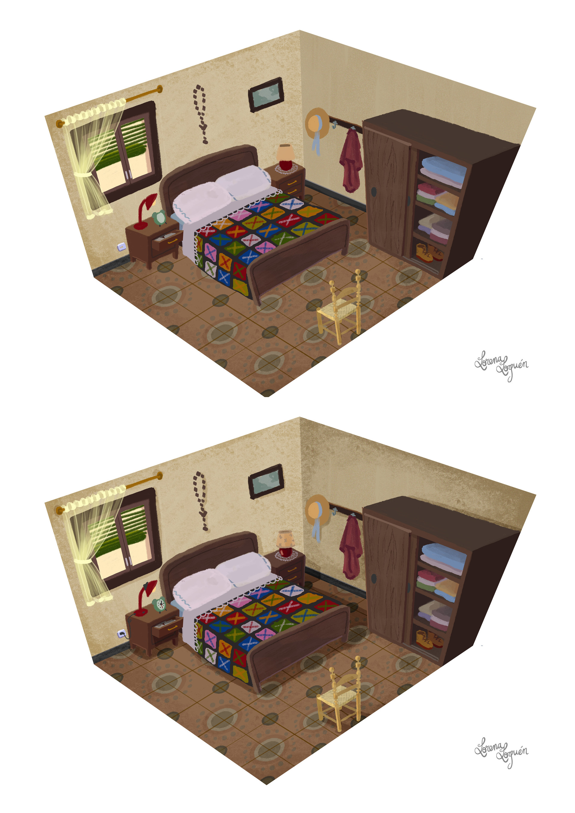 Lorena loguen bedroom concept art by lorena loguen steps 02