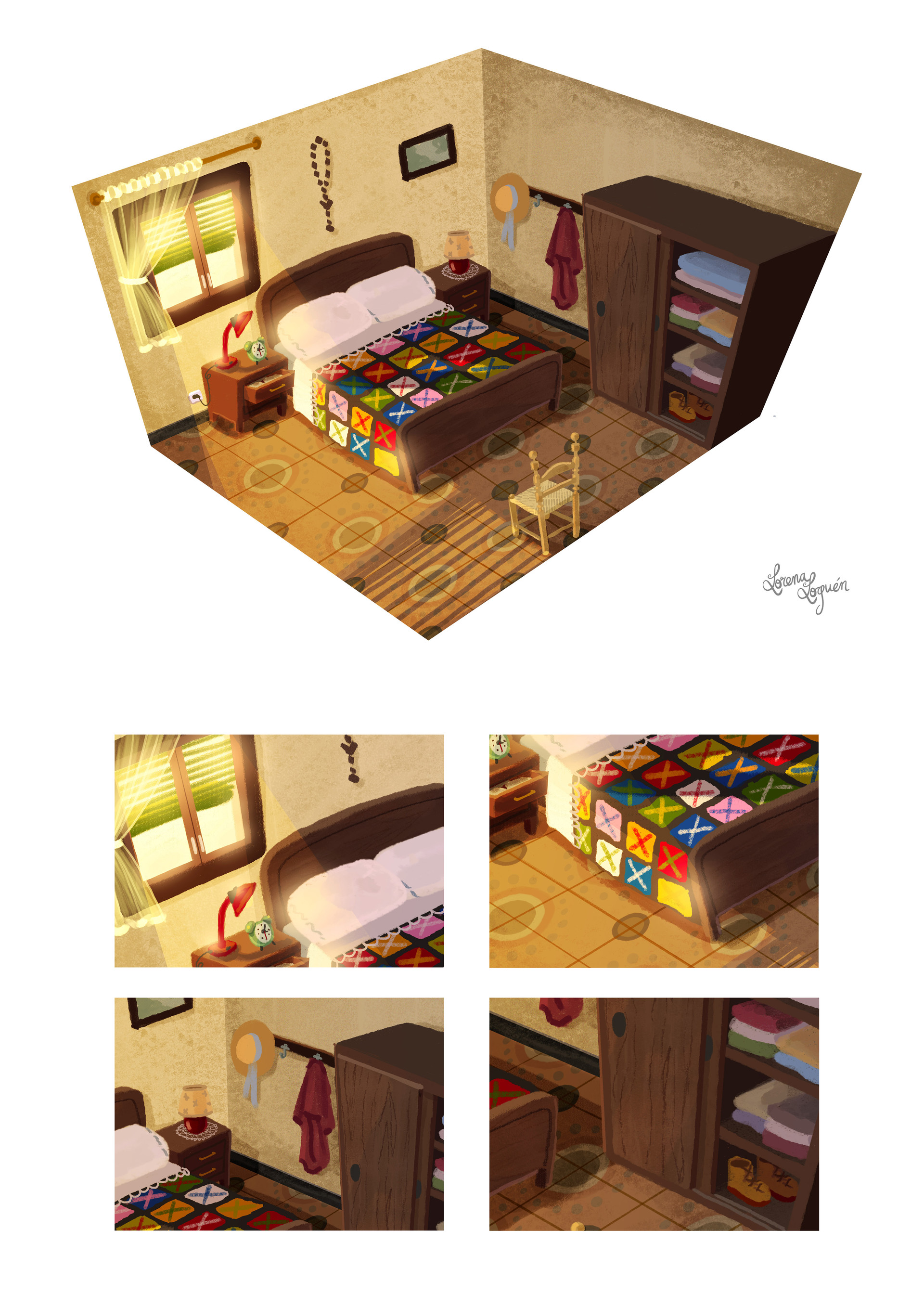 Lorena loguen bedroom concept art by lorena loguen steps 04