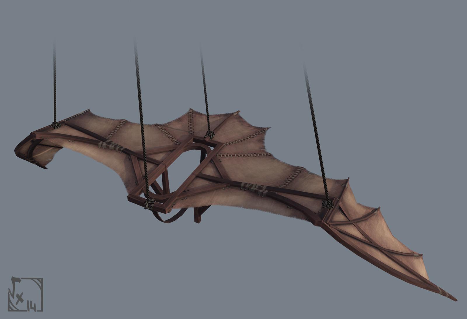 """""""La machine Volante"""", inspired from one of the several sketches by Leonardo da Vinci"""