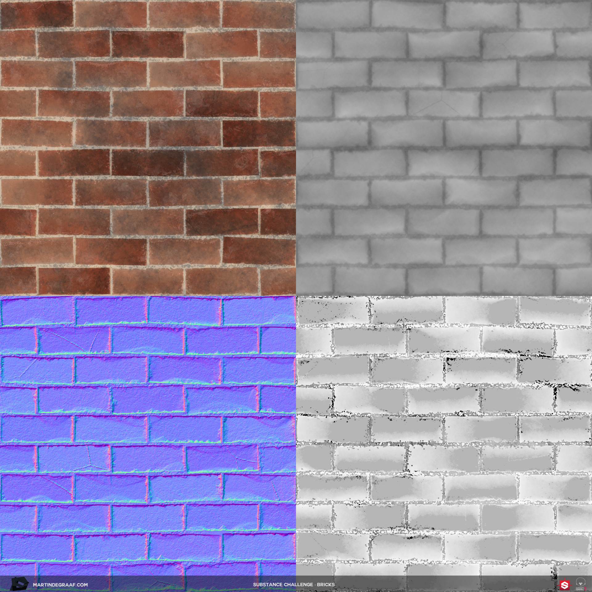 Martin de graaf substance challenge bricks substance texturesheet martin de graaf 2017