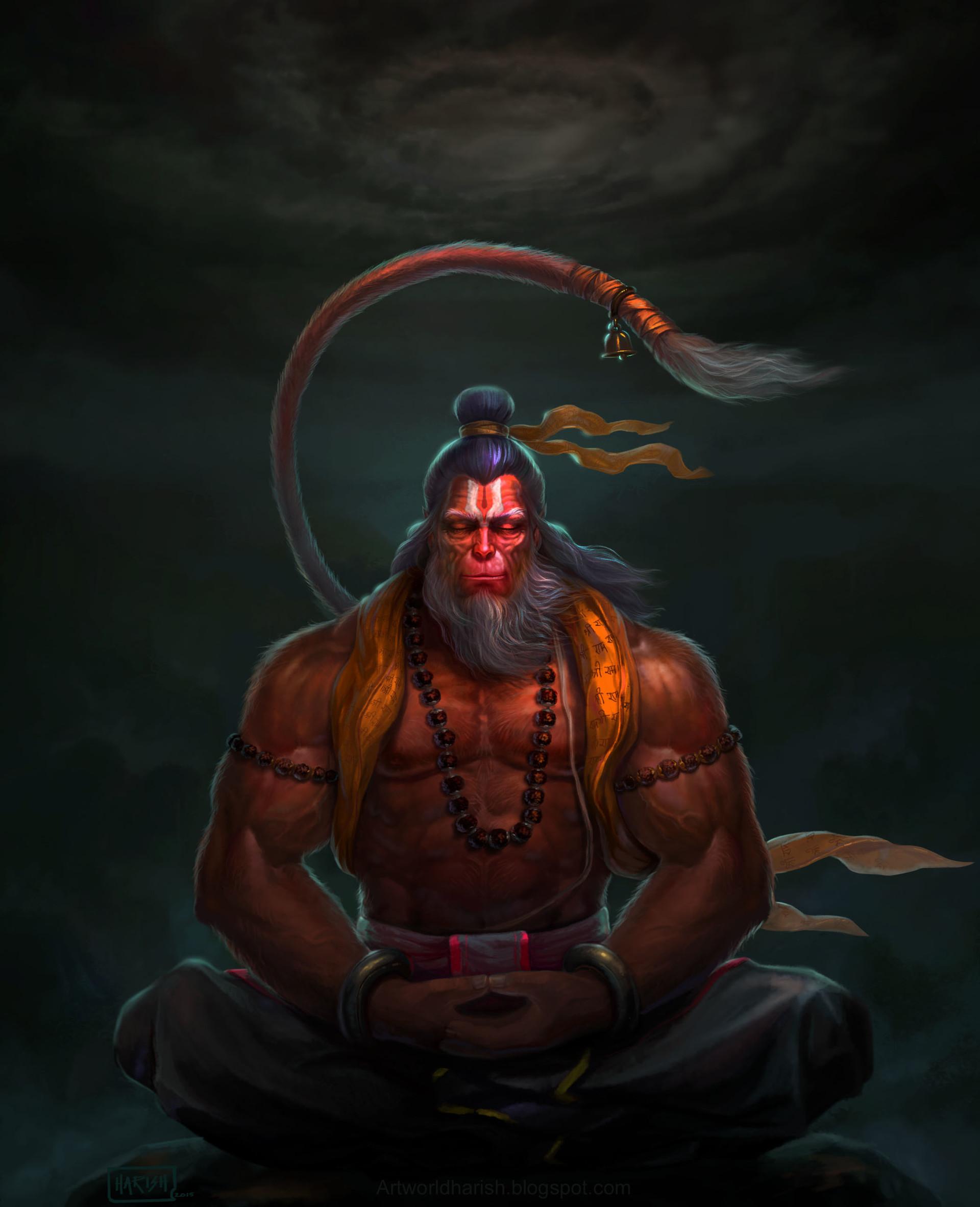 Image result for hanuman artwork