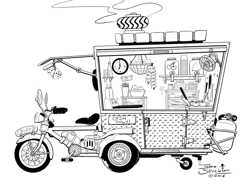 Jake stueber food truckcycle bw