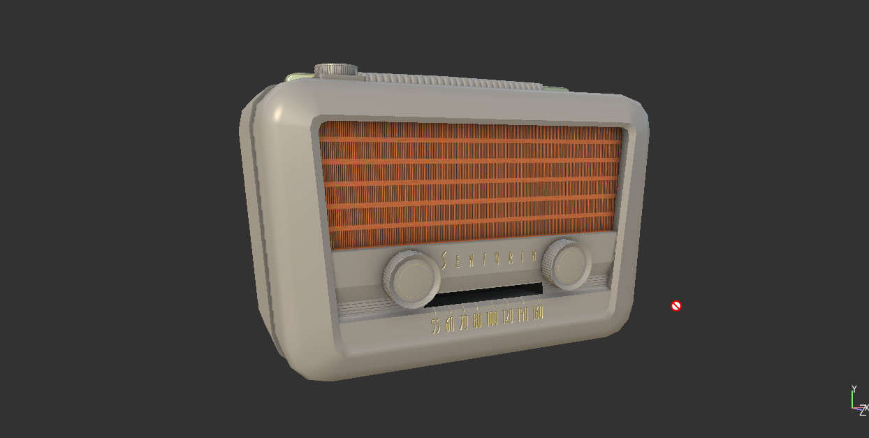 I first started on the normals and the front side, here I just finished the roster in front of the speakers.