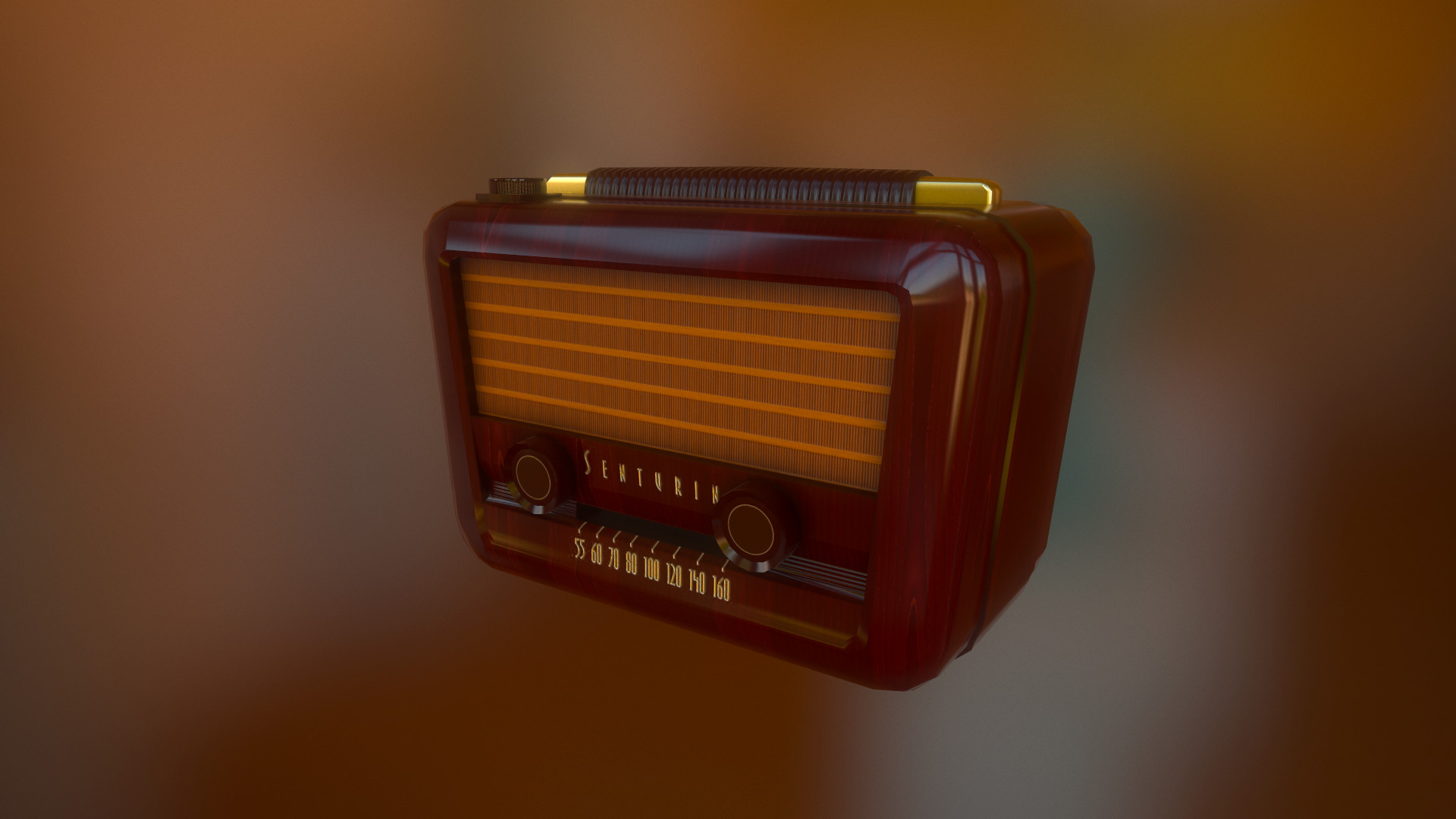 Old Radio that I textured using Substance Painter