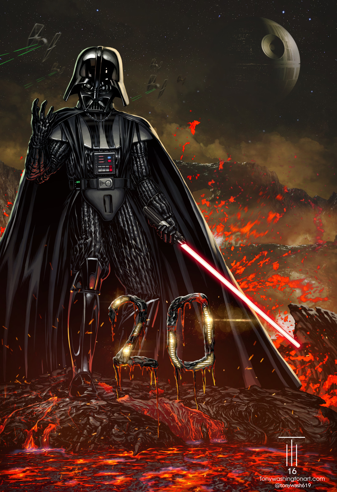 Darth Vader Commission for Dwight Lowrey (San Diego Chargers)