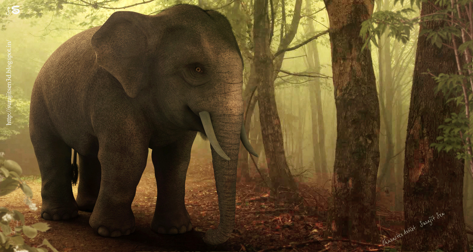 "Hi, this time I am going to introduce a realistic 3D Character ""Asian Elephant""."