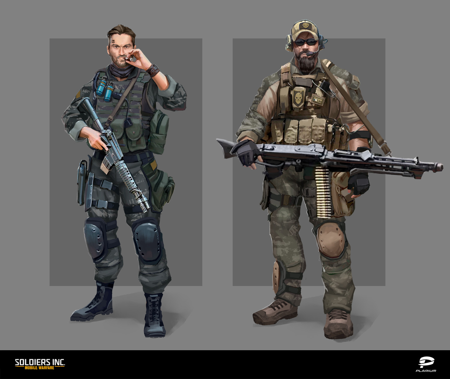 Soldiers Inc. Characters Concept art 1
