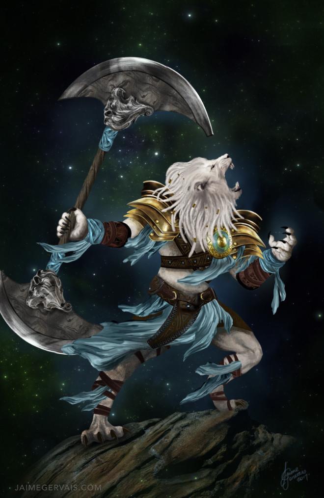 Ajani Goldmane  - Planeswalker of Magic the Gathering