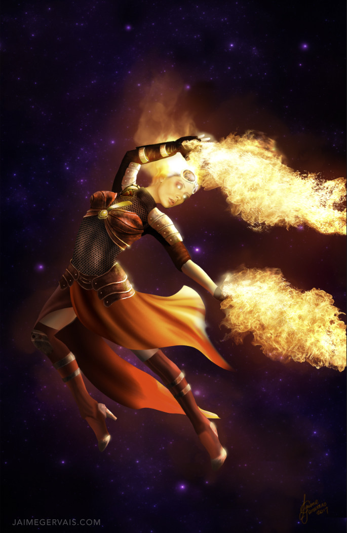 Chandra Nalaar - Planeswalker of Magic the Gathering