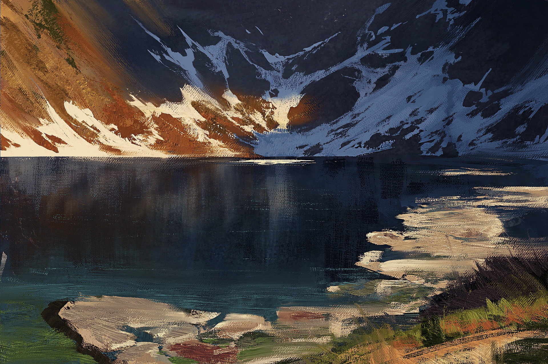 Greg rutkowski mountains study 2 2
