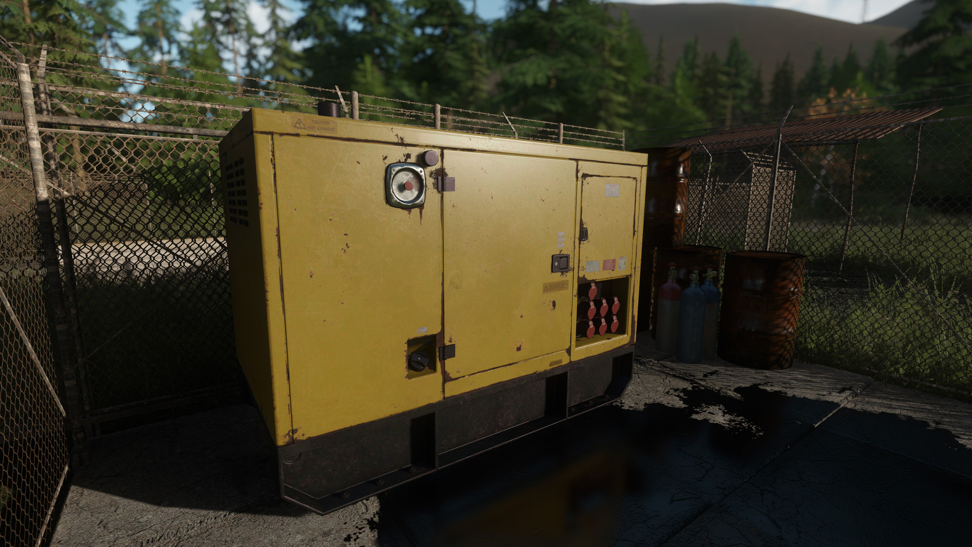 The Large Generator is used to power up lights and elevators within the game.