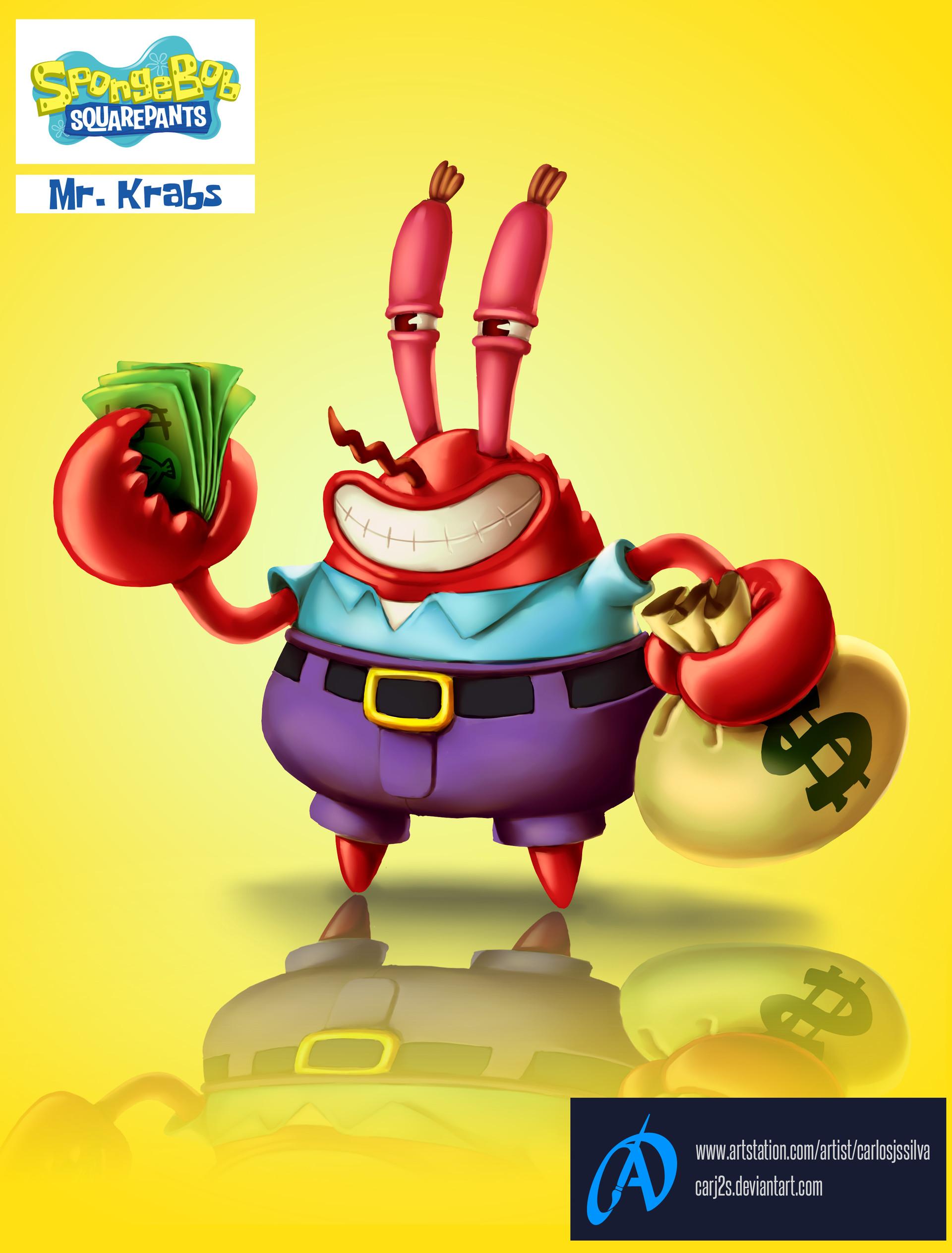 artstation mr krabs carlos silva