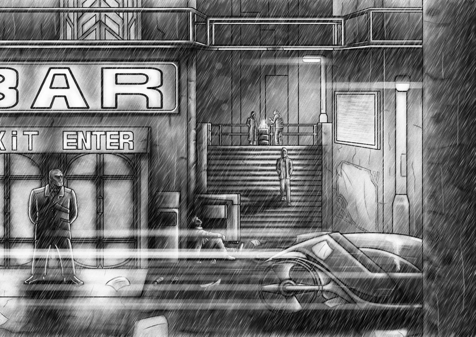 03: Rain and Light Streaks