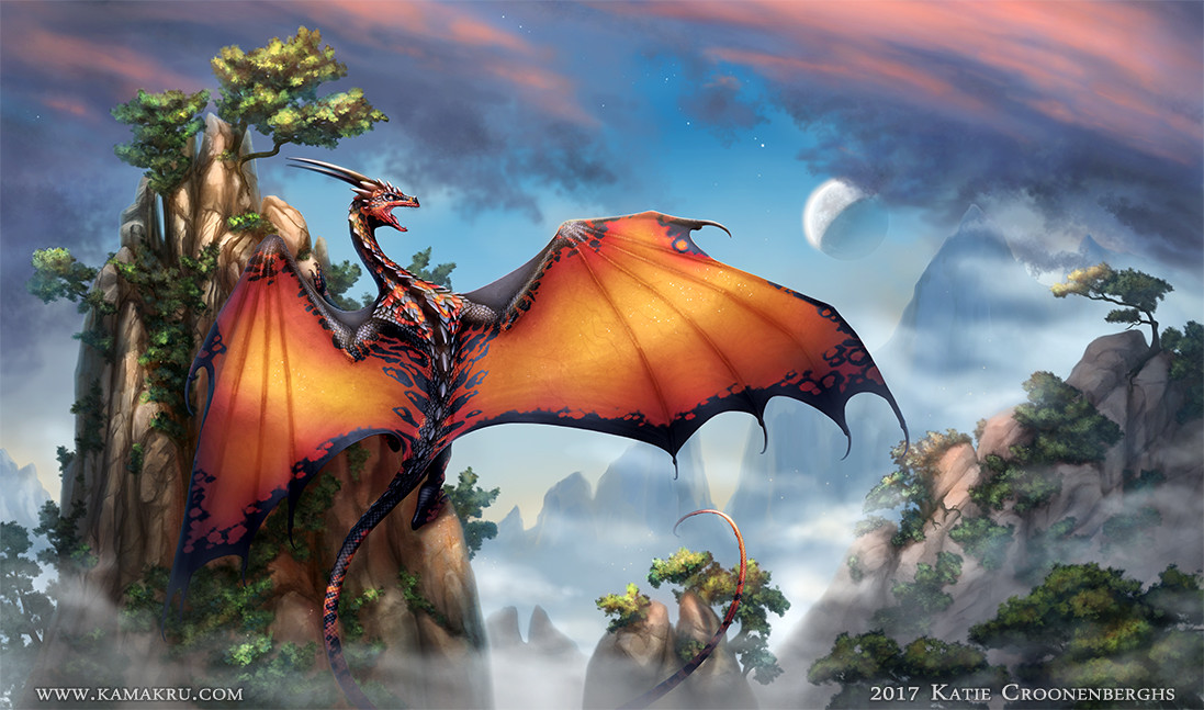 """""""The Lookout Dragon"""" Final piece"""
