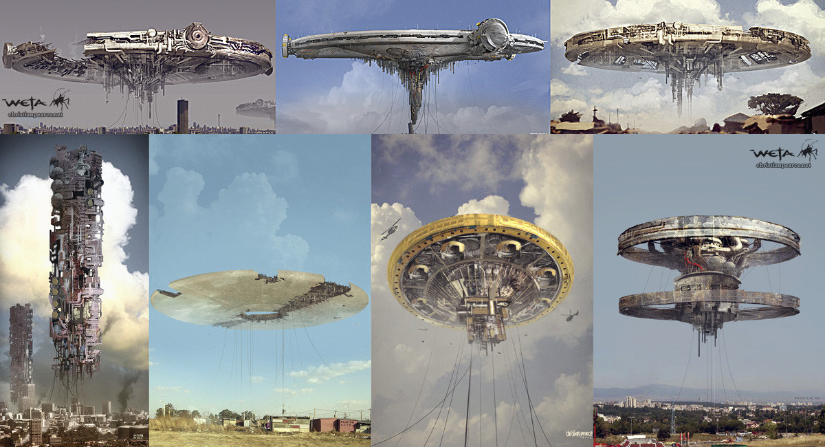 Unused Alien Ship Concepts For District 9 By Christian Pearce Imaginarytechnology