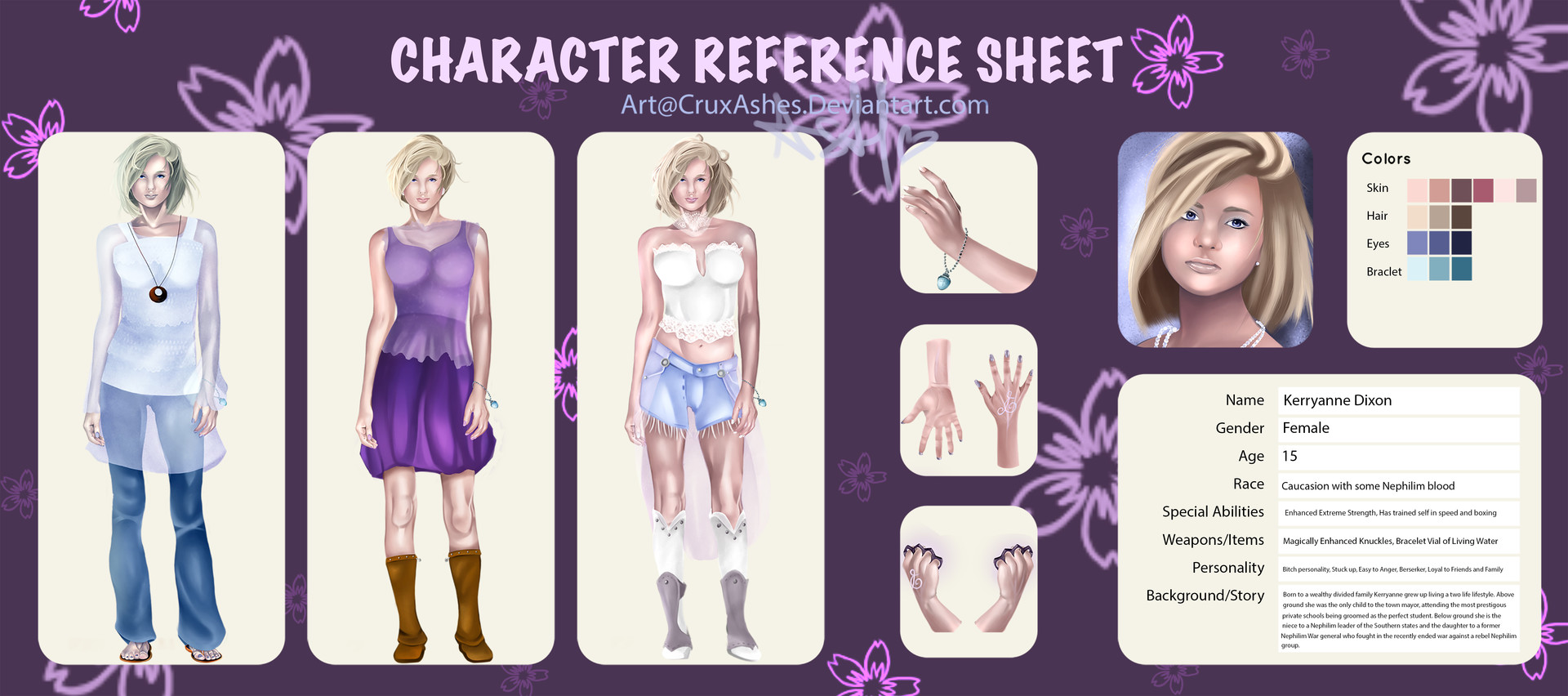 Ashley Douglas Kerry Character Sheet