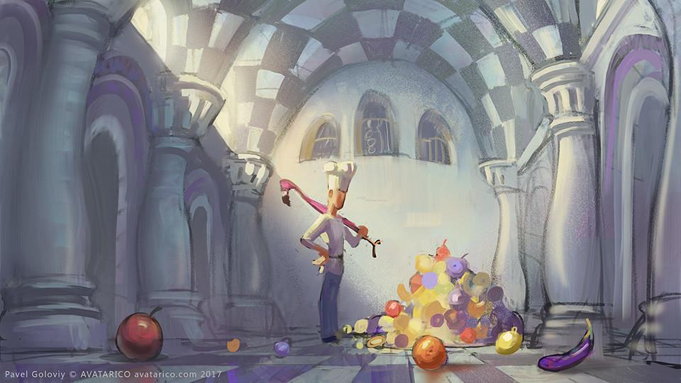 Fruit-thrower.