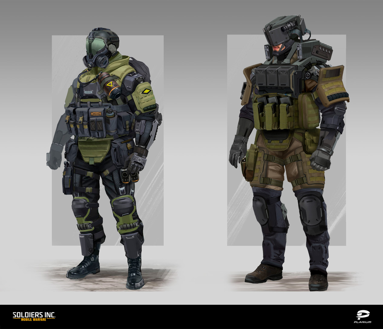 Soldiers Inc. Characters Concept art 2