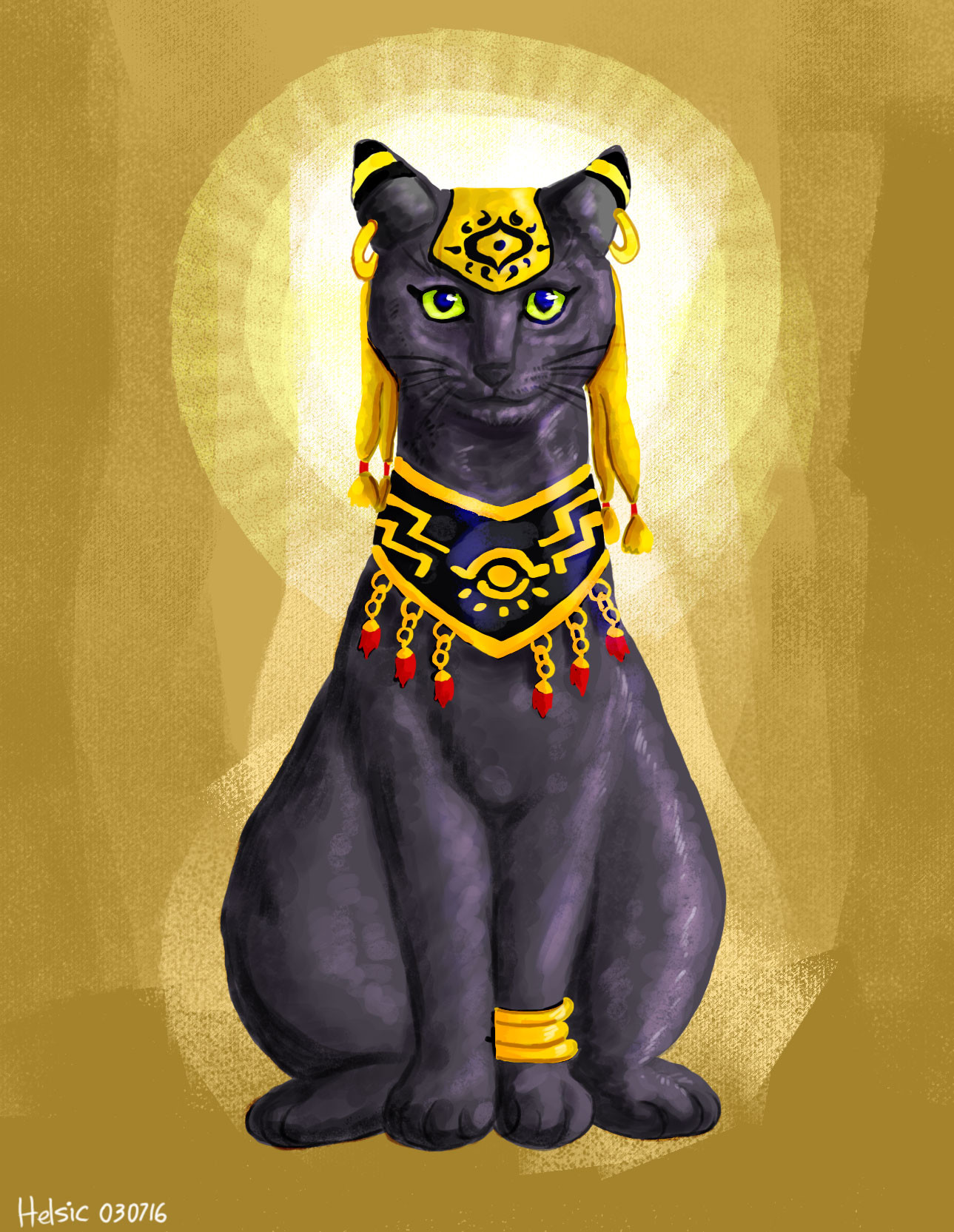 Goddess of cats, protection, joy, dance, music, family in ancient Egypt
