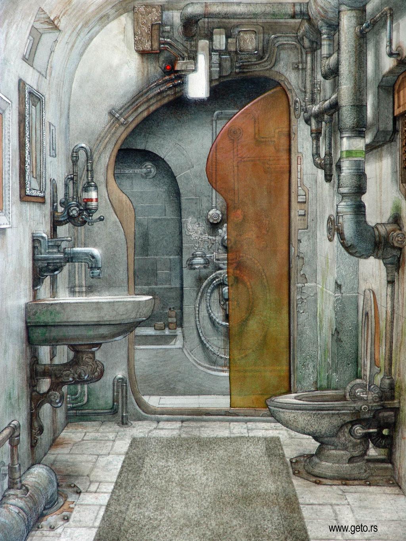 Steampunk Bathroom Concept by Getoart Cakiqi