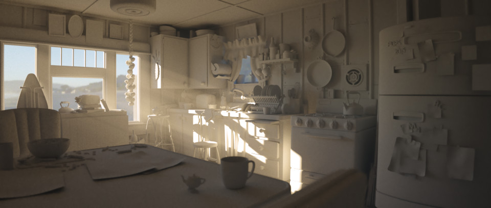 Lighting - Clay Materials and Fog Test