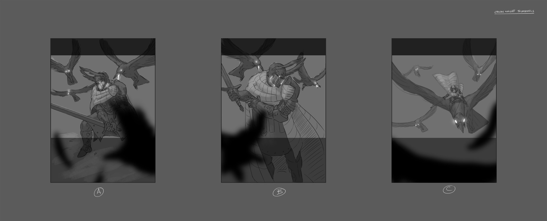 Ricardo coelho crow knight thumbnails 01