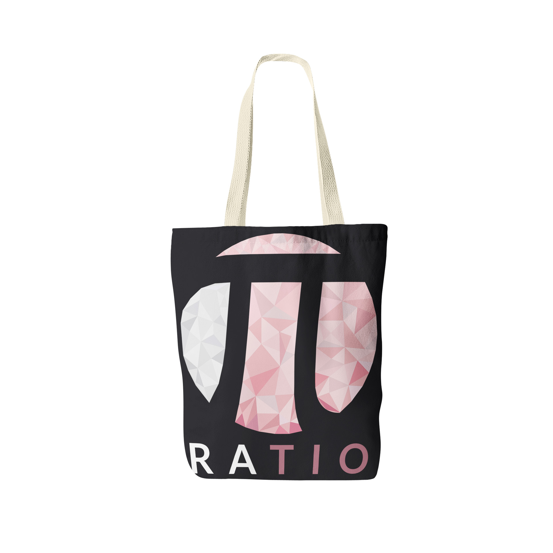 Jerry ubah ratio tote bag front view