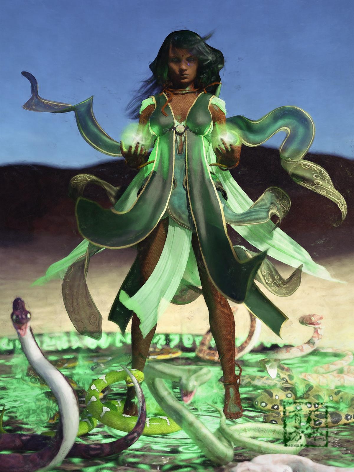 Yuan-Ti Pureblood Sorcerer