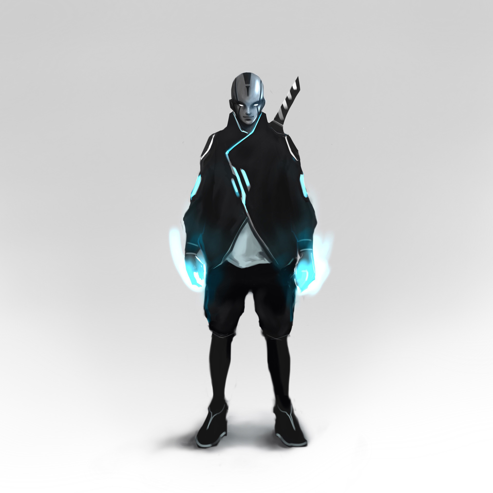 artstation cyberpunk samurai anto d