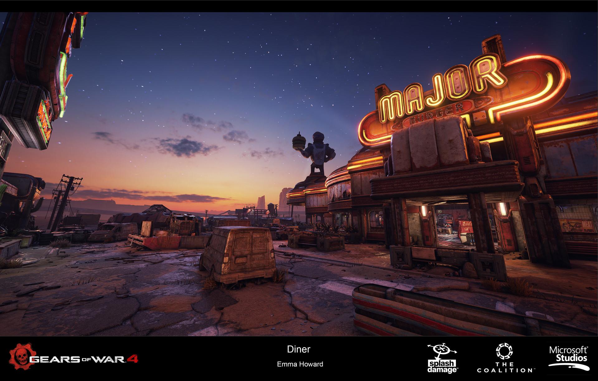 ArtStation - Gears of War 4 Multiplayer Map 'Diner', Emma Howard