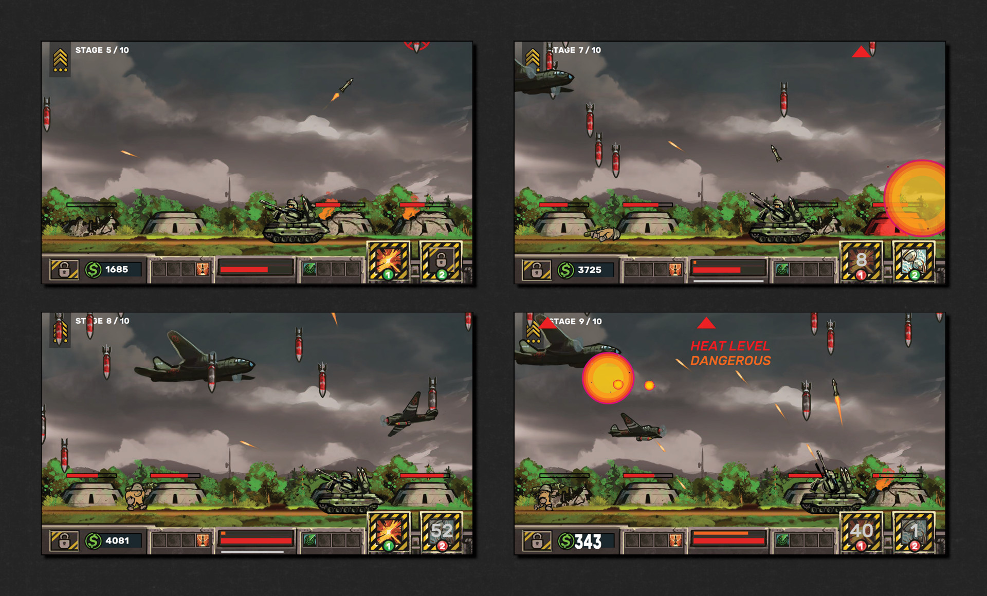 More combat demonstration, featuring new enemies and some combat mechanics, such as heat generation through shooting,  which in excess will cause your guns to temporarily lock down into cooling down if you're not careful.