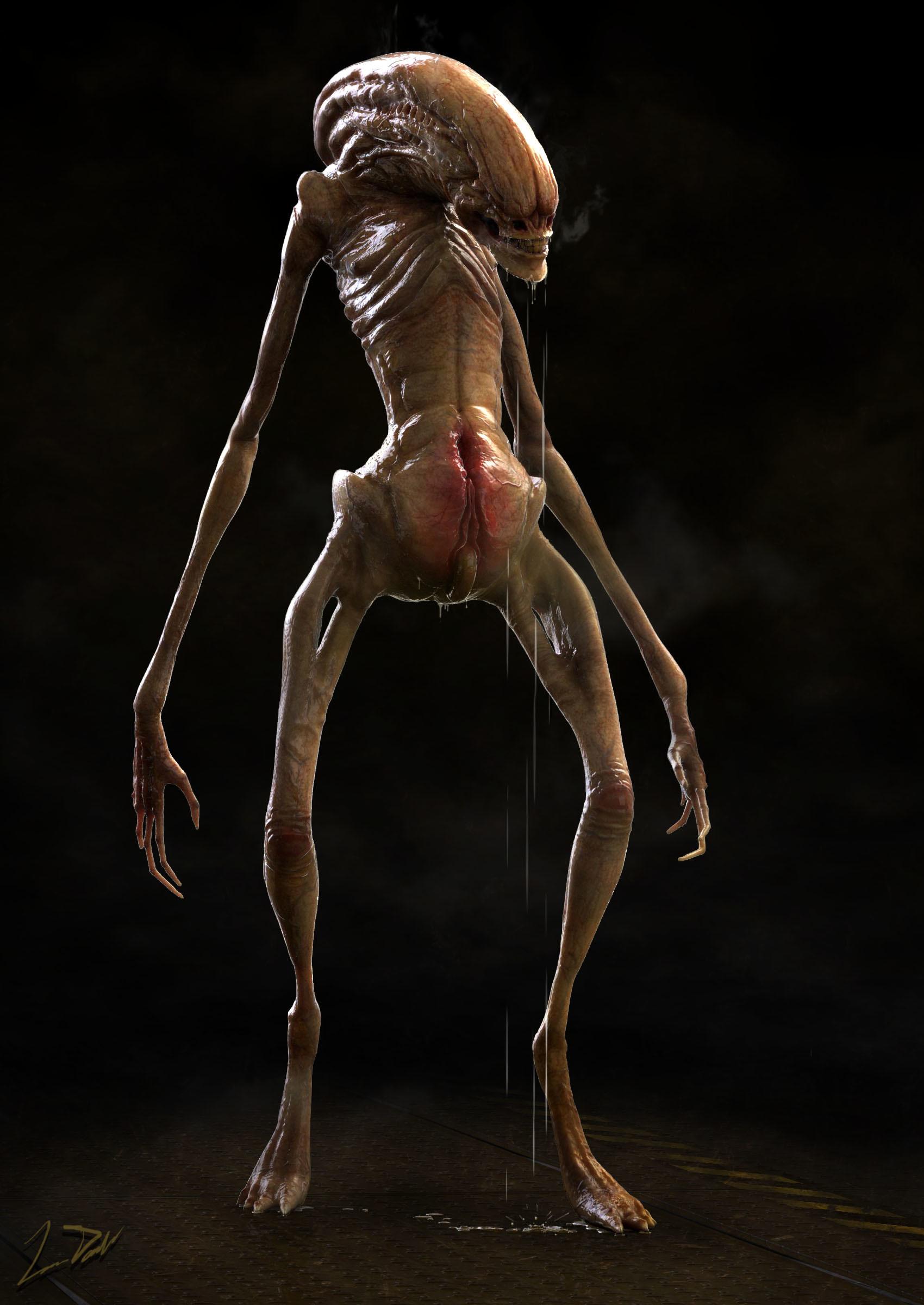 ArtStation - Alien Newborn Concept Design, Luis Deckard