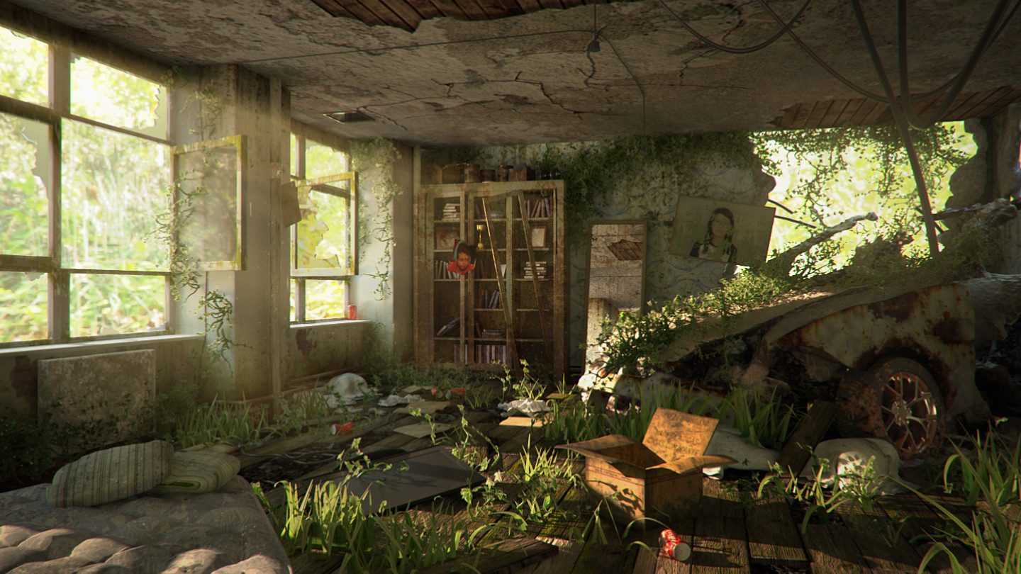 ArtStation - Post Apocalypse Interior, Tan Zher Yung