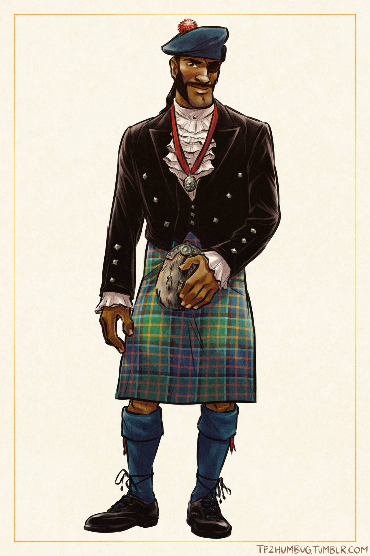 Demoman in Scottish highland formal