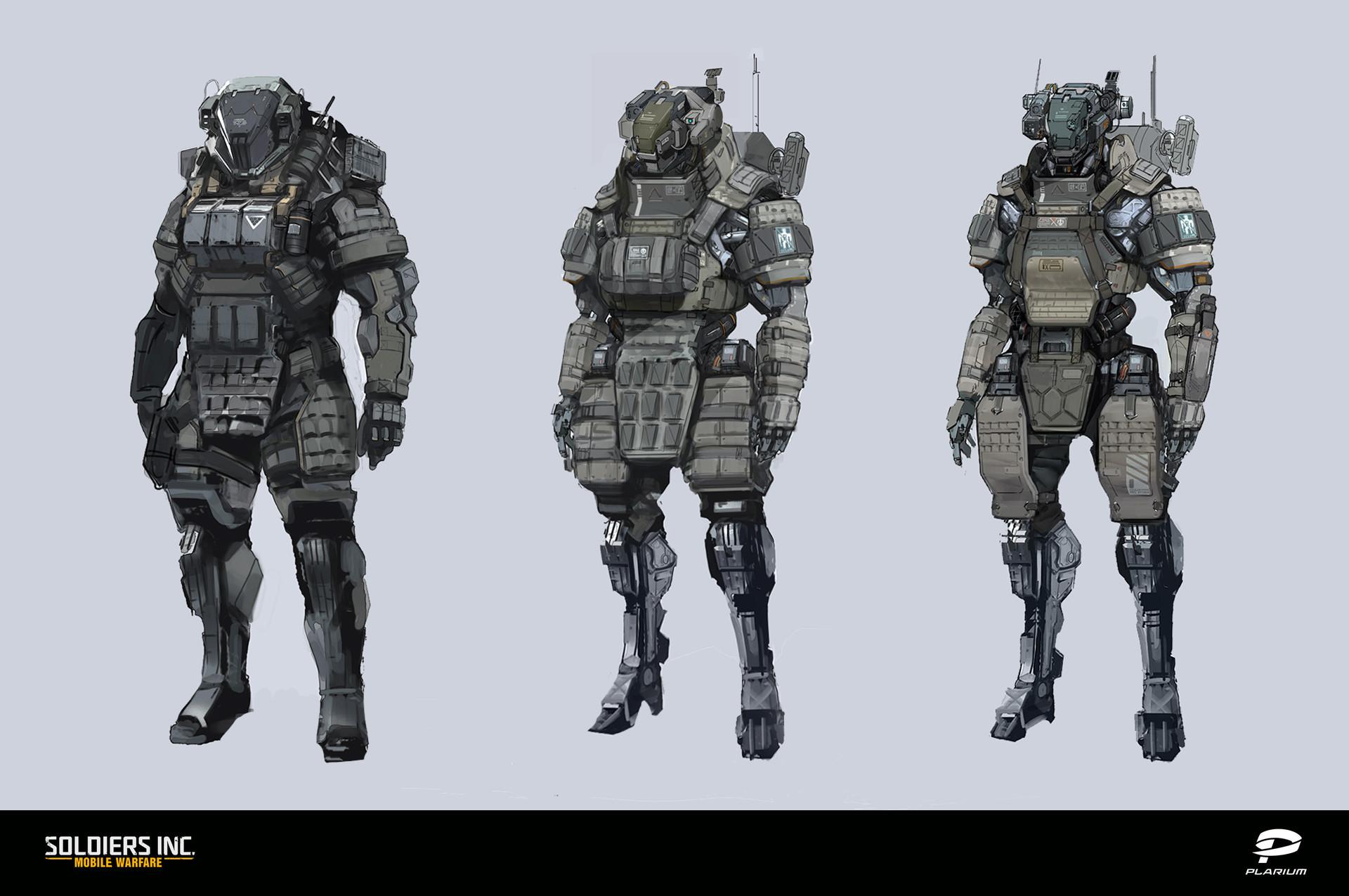 Artstation Soldiers Inc Characters Concept Art Valentin Demchenko