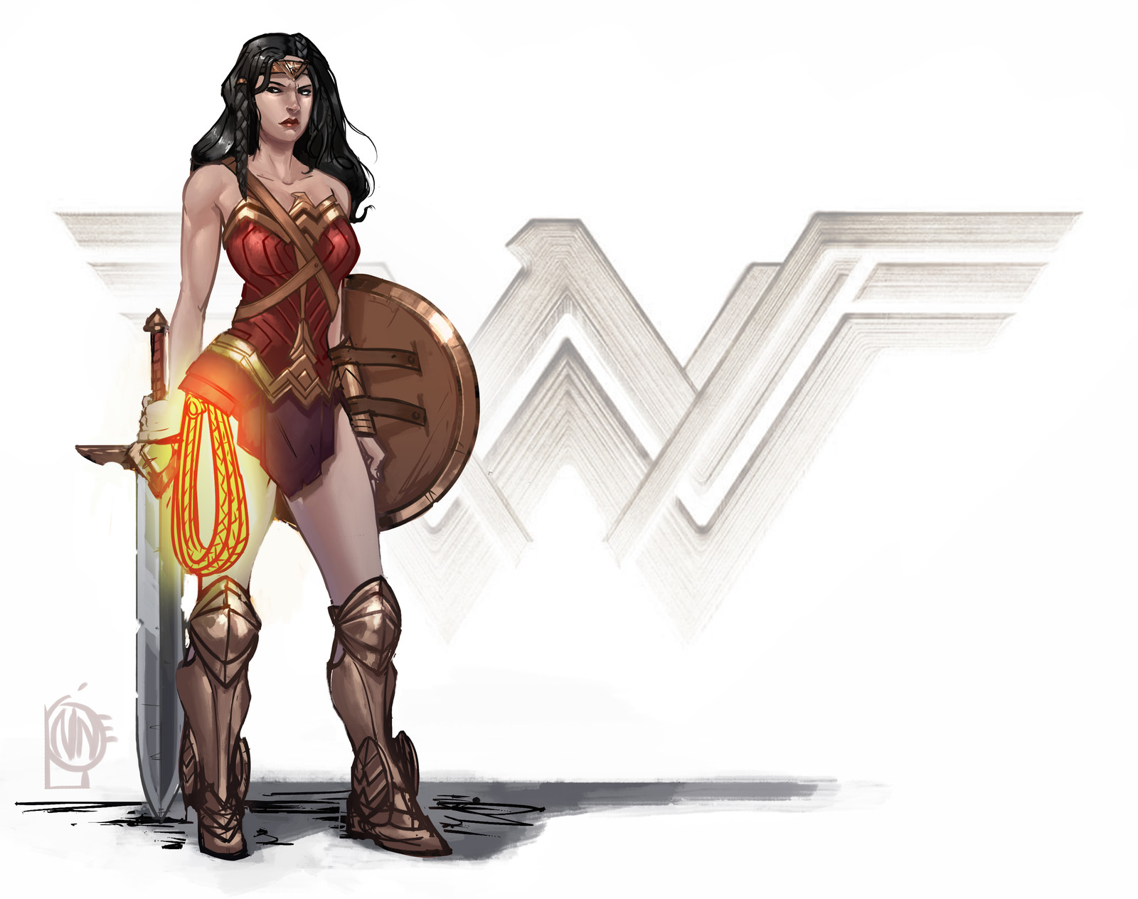 wonder woman fan piece