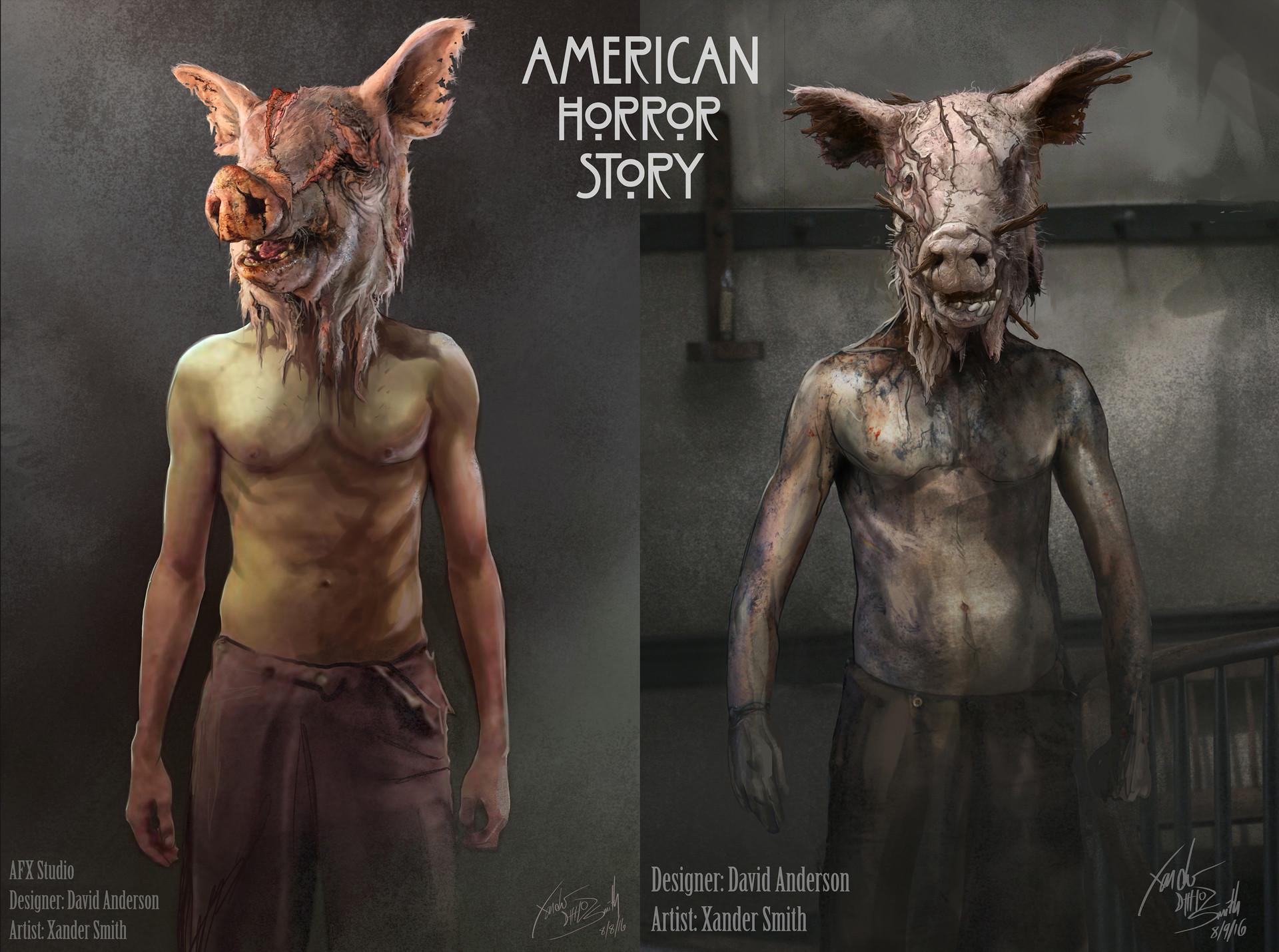 Artstation American Horror Story Roanoke Costume Designs Xander Smith