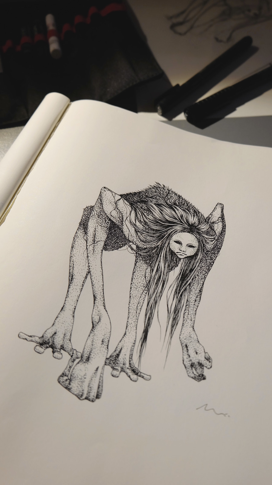 first illustration - ink drawing