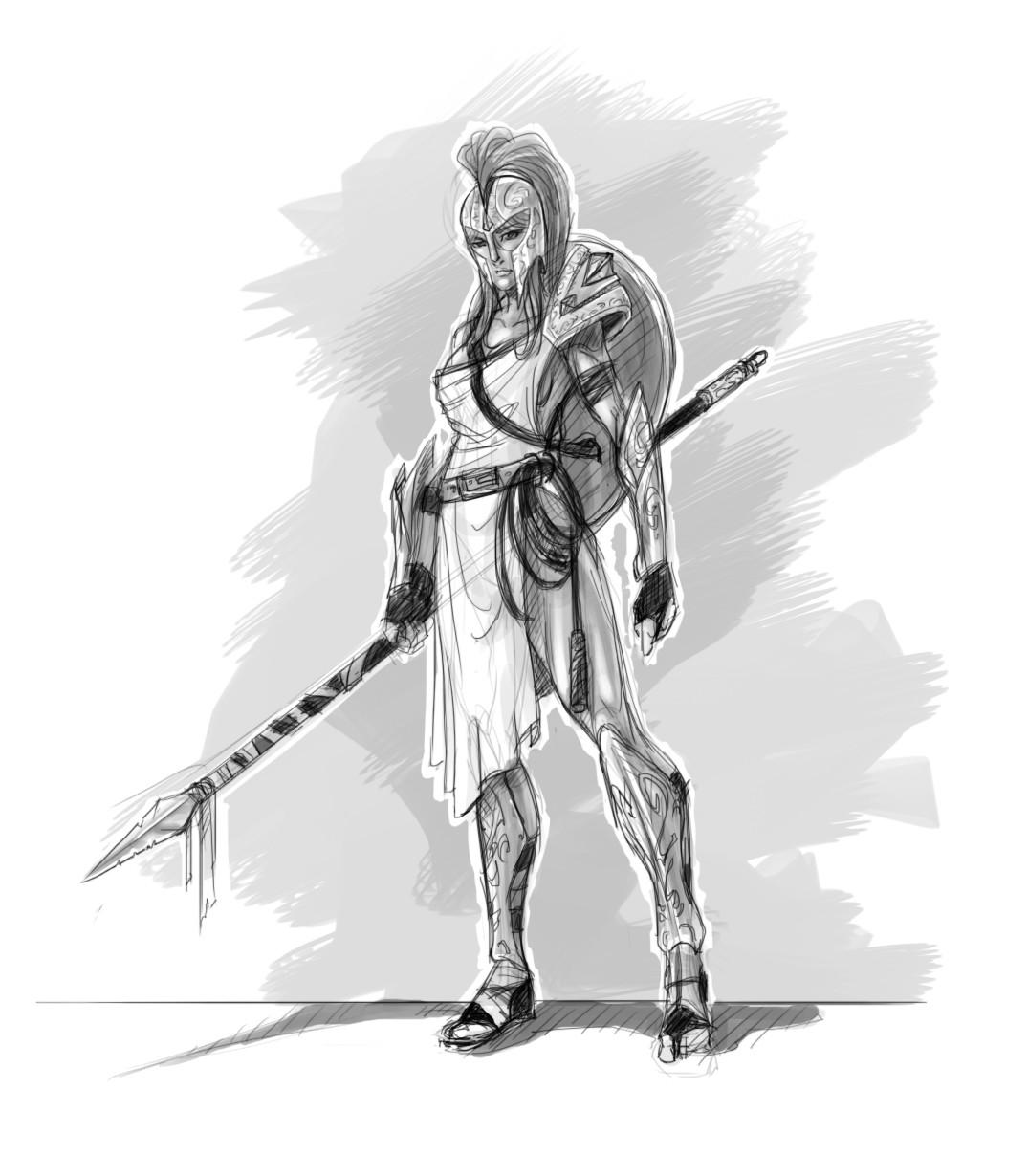Greek Woman Warrior ArtStation - Greek ins...