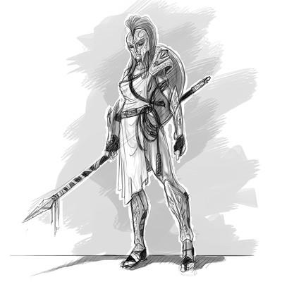 Satrayana eldin de pecoulas concept greekfemalewarrior